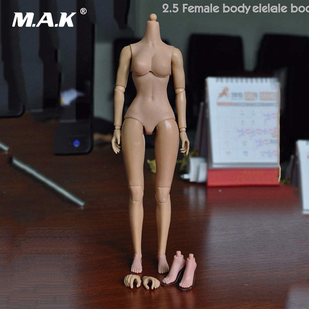 1/6 Scale 2.5 Female Nude Body with Extra Hands and Feet for 1/6 Scale Womens Head Sculpts Figures Dolls Toys Gifts top quality new sex product soft feet fetish toys for man lifelike female feet mannequin fake feet model for sock show ft 3600 1
