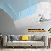 Condicionador de ar ajustável capa pp defletor defletor defletor defletor escudo vento guia mês em linha reta anti vento escudo klima Capas p/ ar condicionado     -