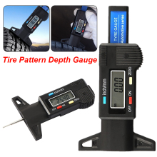 1Pc Digital Car Tire Tread Depth Gauge Meter Measure Tool Caliper Thickness Gauges Tread Brake Pad Shoe Tire Monitoring shan digital caliper 0 1000mm 0 01mm stainless steel gauge micrometer lcd paquimetro ferramentas measure tools