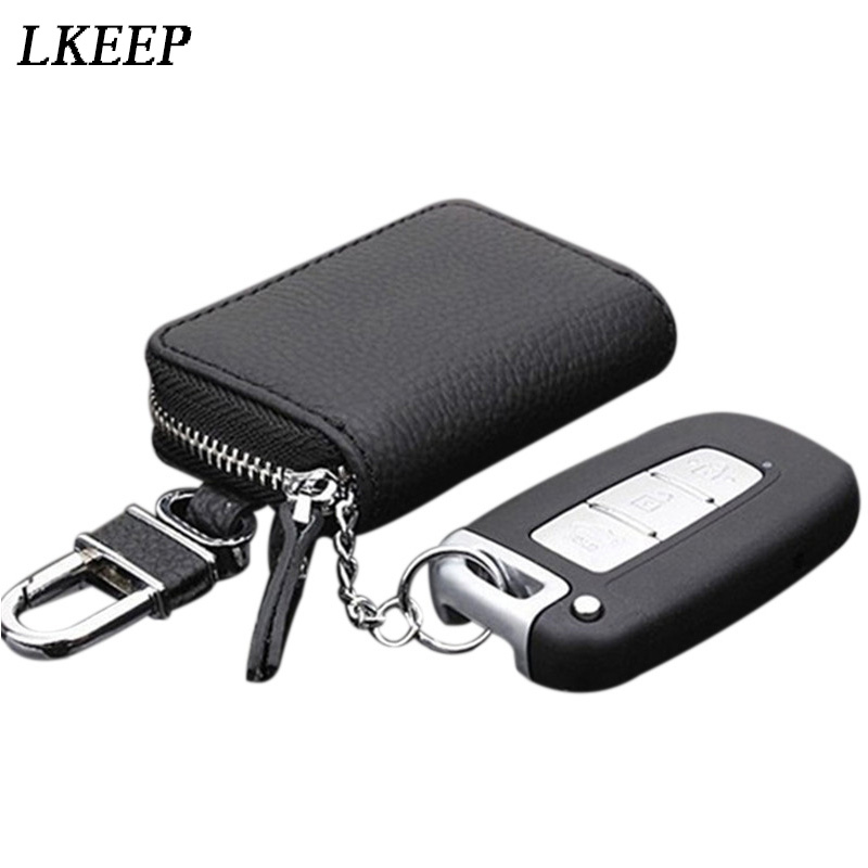 Unisex Key Holder Case PU Leather Car Wallet Chain Key-chain Purse Pendant S