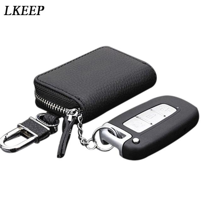 PU Leather Car Key Wallets Men Key Holder Housekeeper Keys Organizer Women Keychain Cover Zipper Key Case Bag Pouch Purse