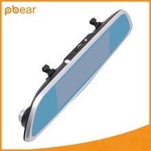 Pbear 7.0 дюймов Двойная Линза Bluetooth Сенсорный экран Автомобильный видеорегистратор GPS навигацией и LDWS ADAS система резервного копирования Камера анти ослепительно