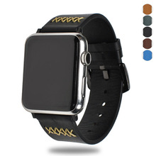 Essidi leather Bracelet Band For Apple Watch Series 1 2 3 38MM 42MM Wristband Strap Buckle For Iwatch 1 2 3 Smart Bracelet