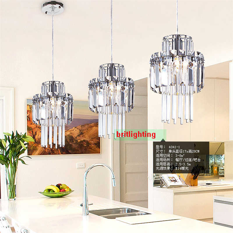 Crystal Pendant Lamp Industrial Bar Pendant Light Kitchen Island Lighting Modern Hanging Lamps Pendant Lights For Living Room
