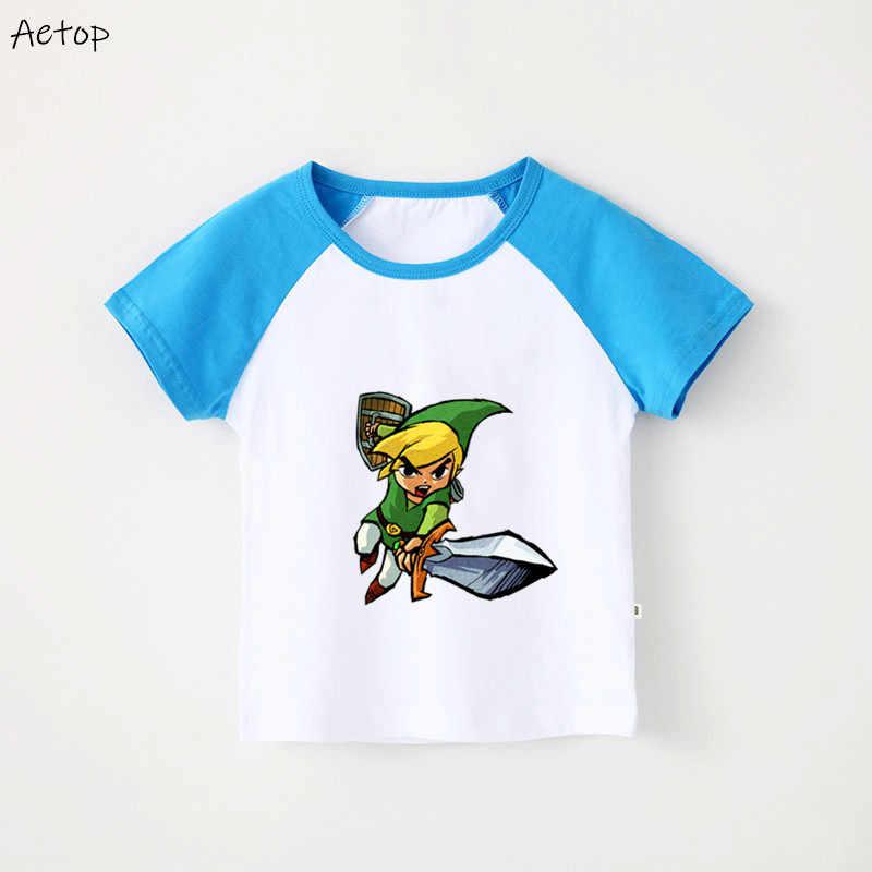 ホット販売伝説ゼルダの子供 Tシャツコットン半袖ラウンドネック Tシャツ少年少女 2019 Tシャツ子供、 b228
