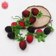 10pcs 3cm Foam Strawberry Handmade Artificial Flowers Berry For Wedding Home Room Decoration DIY Box Scrapbooking Wreath Flowers