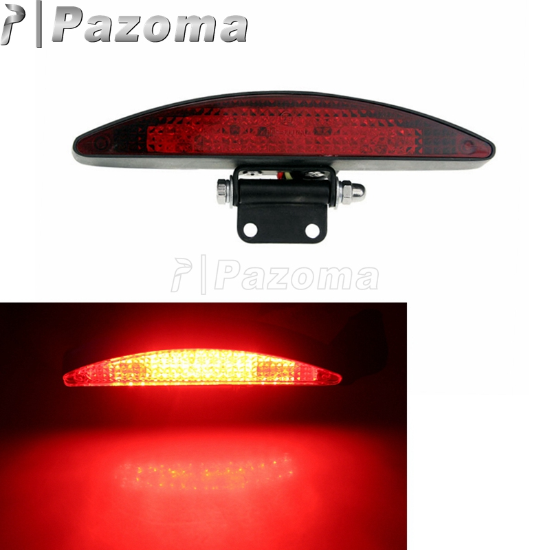 EMARK Motorcycle Red LED Taillight License Plate Light Motor Stop Rear Brake Light For Custom And Most Motorbikes