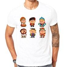 2017 Latest print t shirt Russian ethnic clothing Summer T shirt Cool men summer shirt fashion