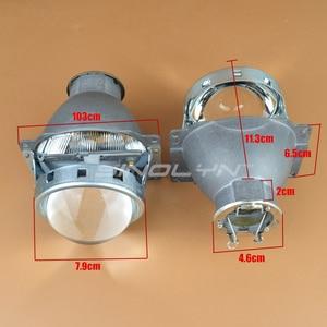 Image 3 - Sinolyn Headlight Lenses Q5 H7 D2S HID Xenon/Halogen/LED Lens 3.0 Bi xenon Projector For Car Lights Accessories Retrofit Styling