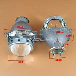 Image 3 - Sinolyn far lensler Q5 H7 D2S HID Xenon/halojen/LED Lens 3.0 bi xenon projektör araba işıkları aksesuarları güçlendirme şekillendirici