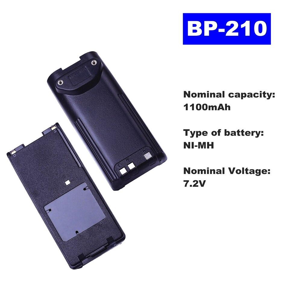 7.2V 1100mAh NI-MH Radio Battery BP-210 For ICOM Walkie Talkie IC-35FI/F21 F3G F218 IC-V8/V81/V82  Two Way Radio