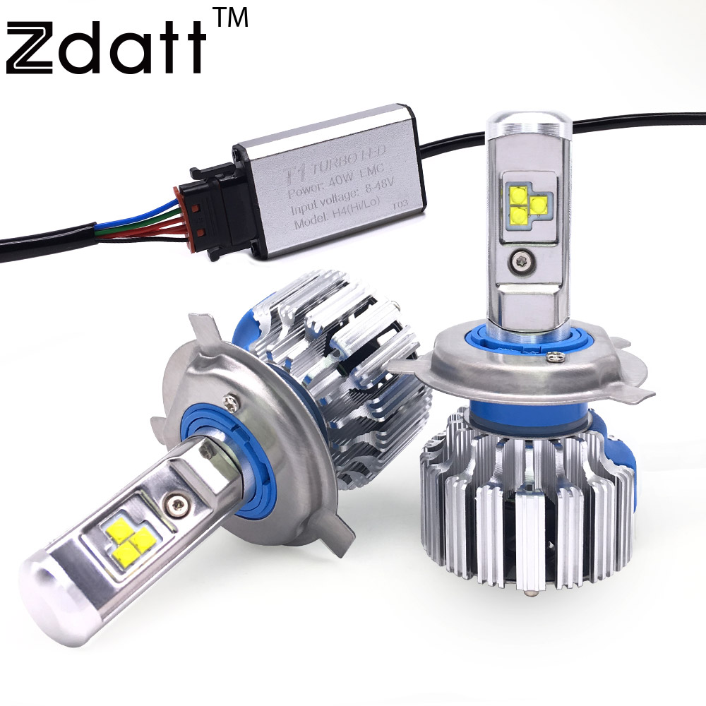 2Pcs Super Bright H4 Led Bulb Canbus 80W 8000Lm Headlight H1 H3 H7 H8 H9 H11 HB3 HB4 H27 Car Led Light 12V Fog Lamp Automobiles