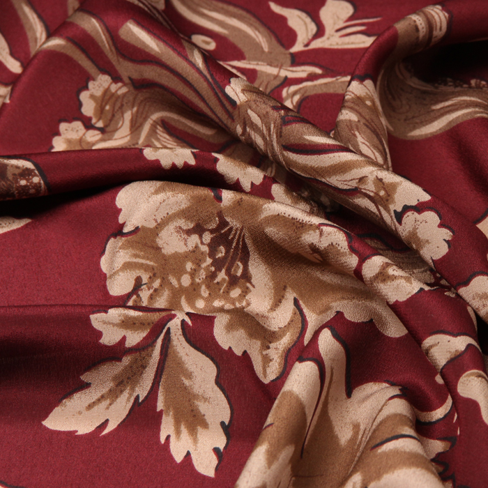 Momme White Fabric 100/% Silk Crepe de Chine fabric Width 44 inch  12 mm Animated Chocolate people Printing