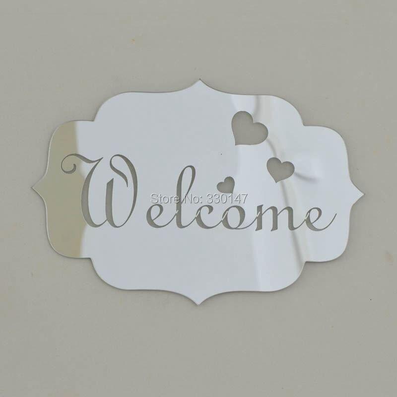14x10 cm BIENVENIDOS Señales Indicadoras Entrada Logotipo de Casa - Decoración del hogar - foto 2