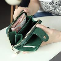 Women Lady PU Wallet Short Zipper Wallet Card Holder Coin Purse Dating Shopping