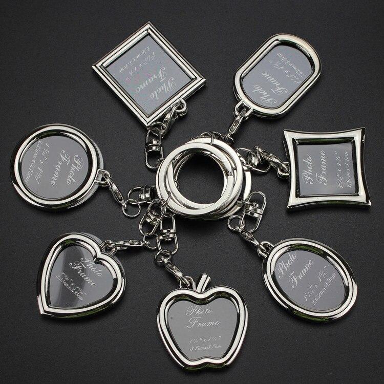Креативный брелок для ключей с фоторамкой в виде пары