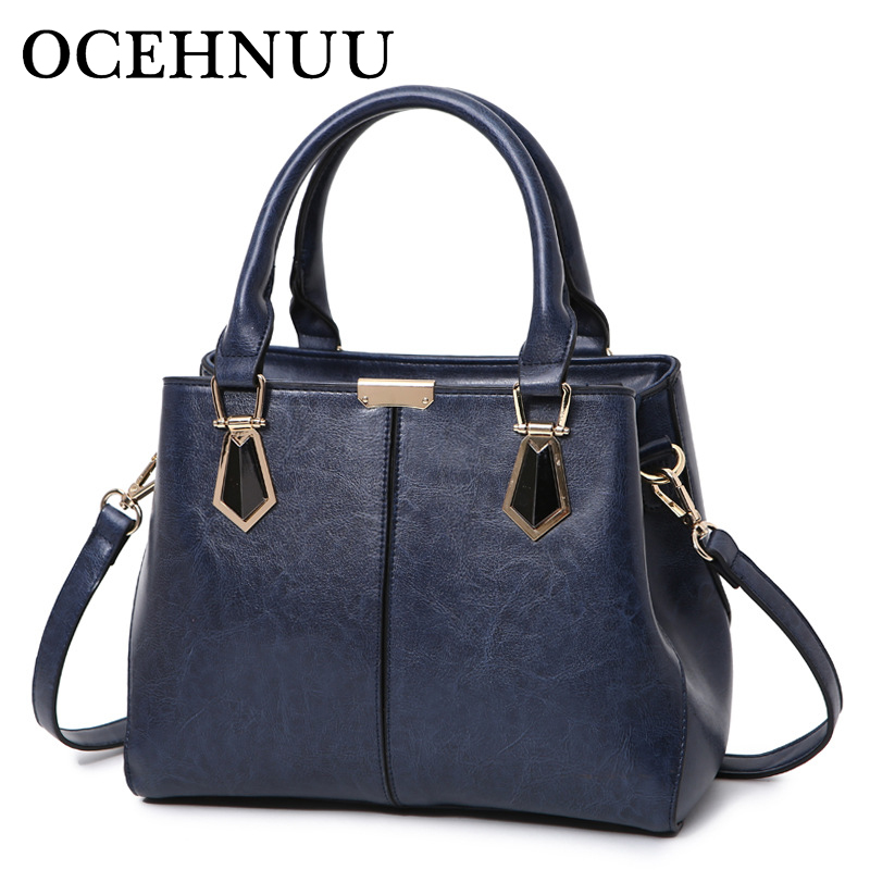 OCEHNUU New Luxury Women Handbag Designer Genuine Leather Shoulder Bag For Women High Quality Solid Ladies Tote Bags Sac A Main цена 2017