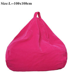 Bean Bag Sofa Cover Chairs Lazy Seat Puff Beds Flocking Fabric Lazy BeanBag  Sofas Without The