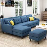 New arrival American style simple latest design sectional l shaped corner living room furniture fabric sofa set prices list F76F