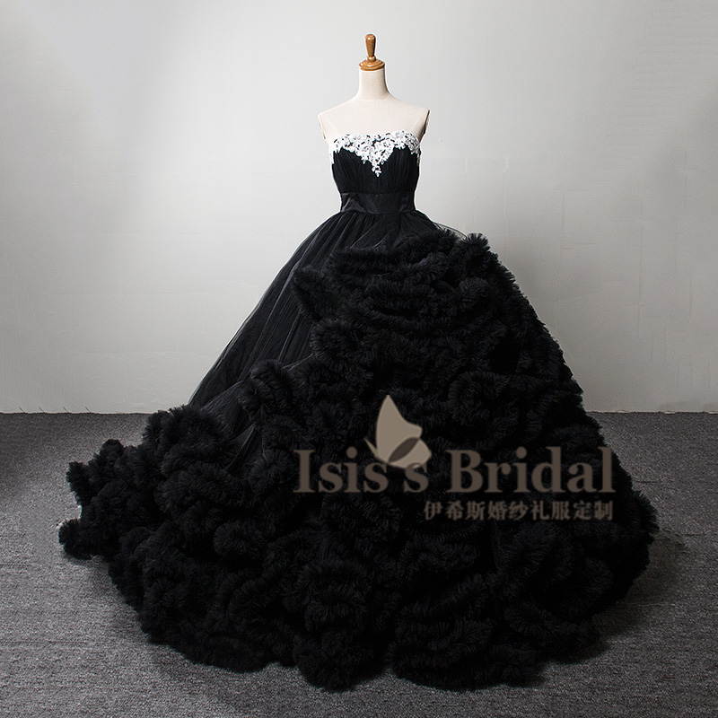 Sexy 80 colors Free Shipping Long train Crystal White/Blue/Black/Red/ plus size crystal Puffy Ball gown Bridal Wedding Dresses