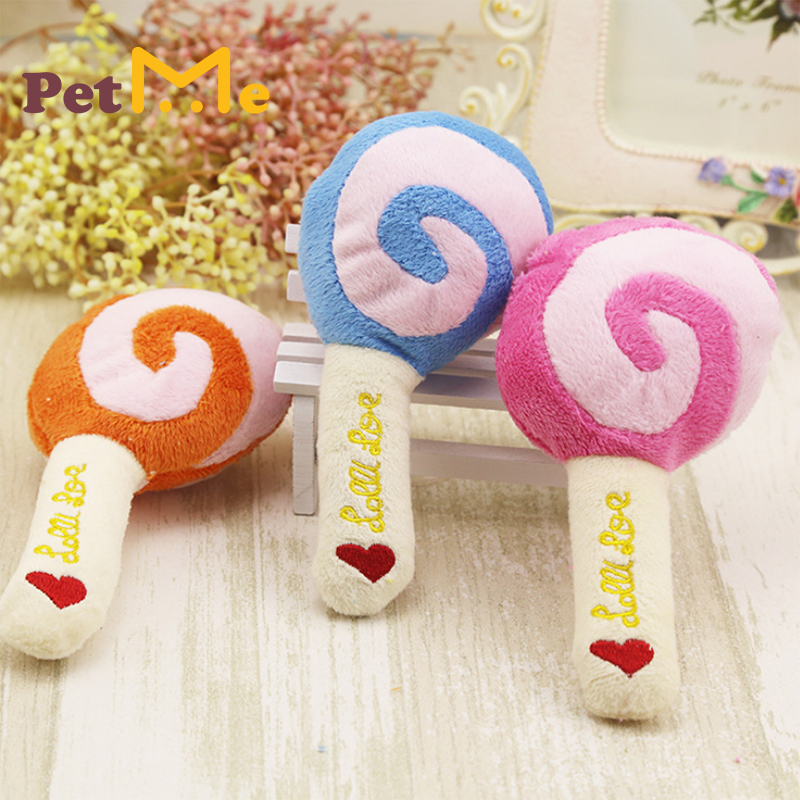 Lollipop woolen sounding toys  ,Funny molars Tooth Cleaning for cats and dogs training toys.PetMe Dog Toys