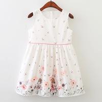 Bear Leader Girls Dresses 2018 New Brand Princess Clothing Butterfly Printing Spring View Sleeveless Cute Girls
