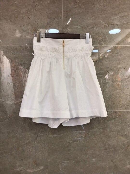 Xia Xin Women s Zipper Pure colour A shaped Pendulum Shorts 625 2019