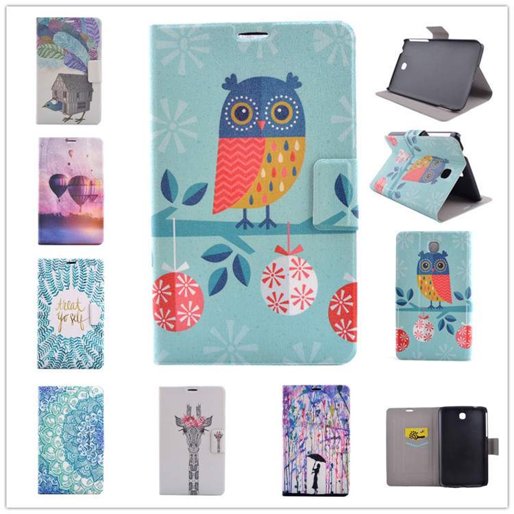 Fashion Painted Flip PU Leather For Samsung Galaxy Tab A 9.7 Cases For Samsung Galaxy Tab A T550 Smart Cases Cover