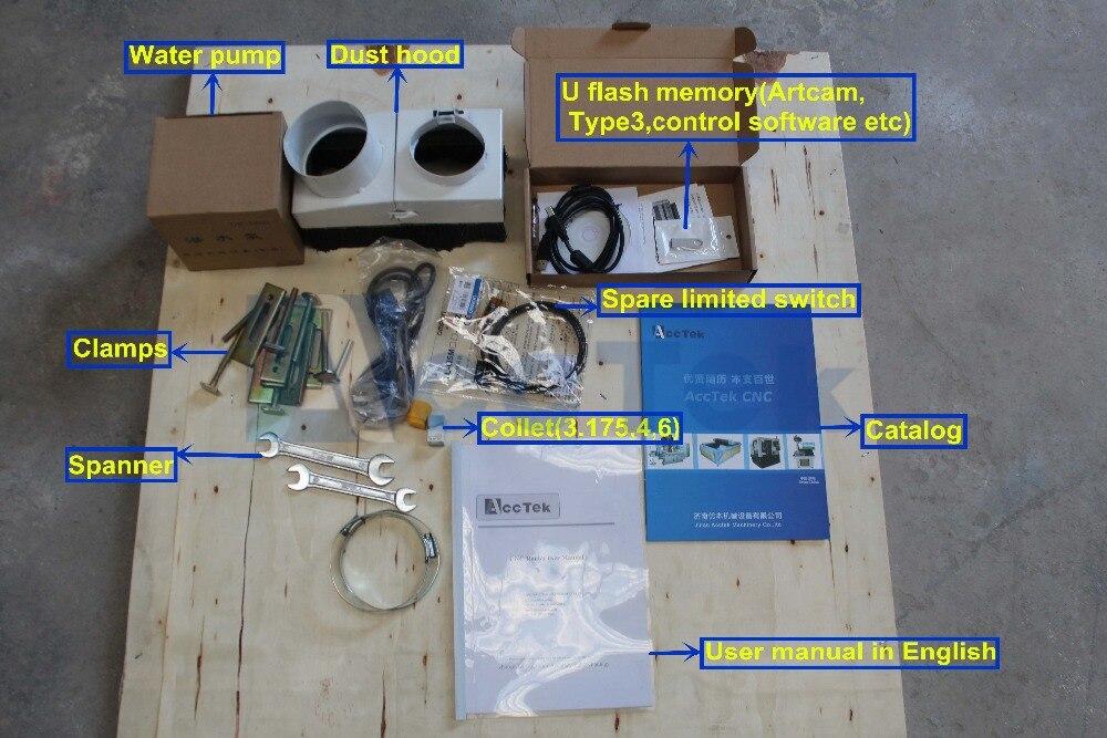 Chine Acctek CNC routeur machine mini 6090 3d scanner laser machine - 6