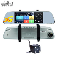 7 inch Car GPS Navigator Android 5.0 with DVR mirror Bluetooth Built in 16GB sat nav Eeurope RU US Maps Free Updates