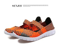 Ladies Dance Shoes 2017 New Breathable Woven Elastics Sneaker Shoes Outdoor Sport Swing Shoes Girls Fitness