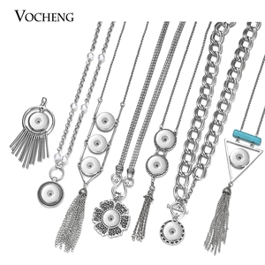 Vocheng Ginger Snap Charms Necklace for 18mm Snap Button Interchangeable Jewelry 26 Styles NN-637