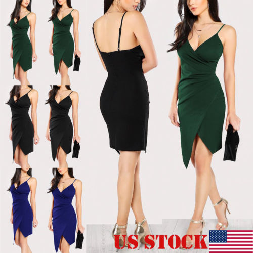 Stylish Hot Sale Women Sexy V-neck Sling Backless Asymmetric Bustier High-waist Elegant Short Dress Lady Ball Party Dress S-XXL 3