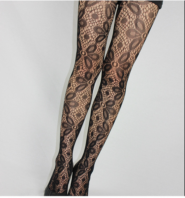 Fishnet Pattern Jacquard Pantyhose Tights - 1pcs dww42 5