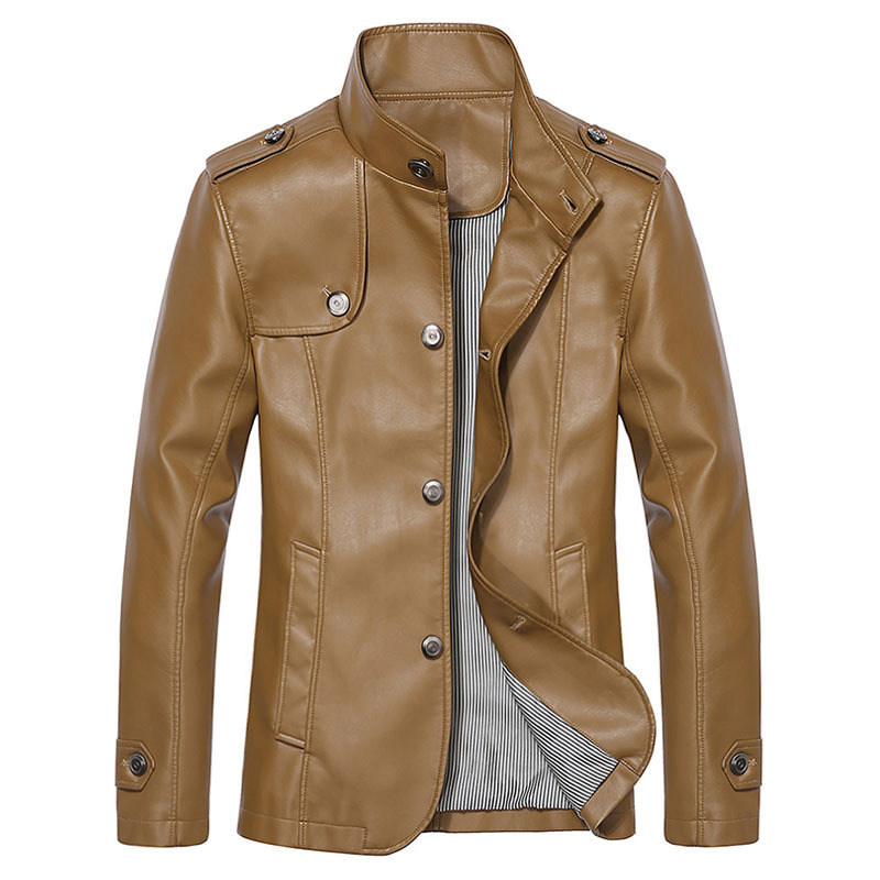 Brand Faux Leather Jacket Men Winter Jackets Mens Leather Jacket ...
