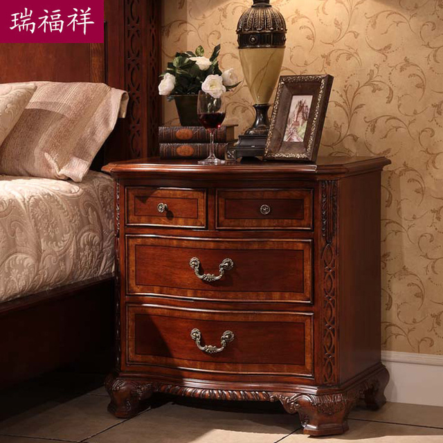 Bedsprings american style solid wood bedside cabinet fashion solid wood bedside cabinet bed side cabinet storage cabinet drawer