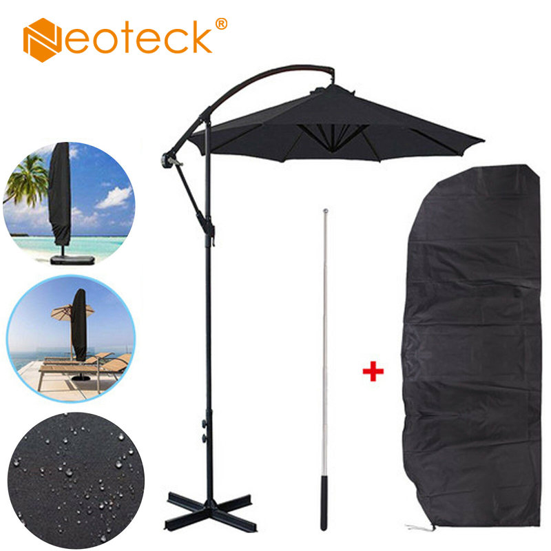 Neoteck capa guarda-chuva 265cm, à prova d'água, para áreas externas, jardim, pátio, guarda-chuva, proteção para o ar livre, acessórios de capa de chuva