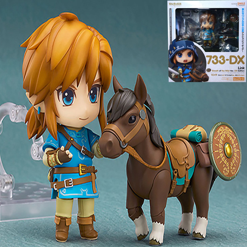 HEYZO 14cm The Legend of Zelda 733-<font><b>DX</b></font> Nendoroid Link Zelda Figure Breath of the Wild PVC Anime figure <font><b>Toys</b></font> For kids image