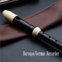 ABS Trisection Tenor C 8 Hole Baroque B /German G Recorder flute with Leather Bag Finger Cleaning Bar Cleaning Cloth