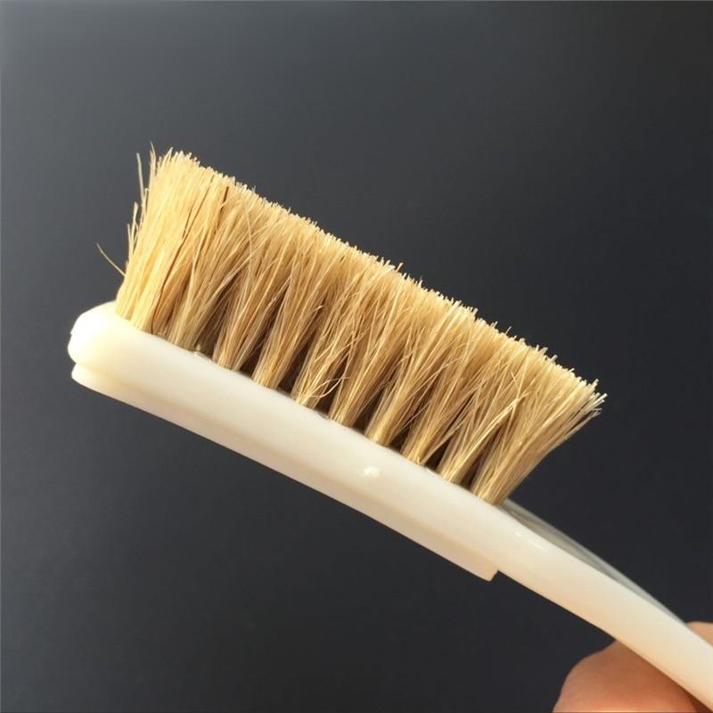 2 pack long handle 6 row natural boar hair detail brush clean brush for interiors car. Black Bedroom Furniture Sets. Home Design Ideas
