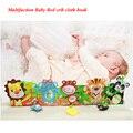 Berço do bebê Livros de Pano cama Multifuncional berço cercadinho Desenvolvimento Precoce brinquedos Educativos aprendizagem musical móvel primeiro livro Brinquedo