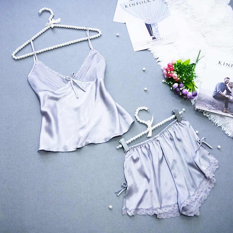 Phụ nữ quần áo sexy đêm S/M/L/XL/XXL/XXXL backless ngủ trang phục phụ nữ niềng răng áo ghi lê + short set cô gái sâu V đồ ngủ