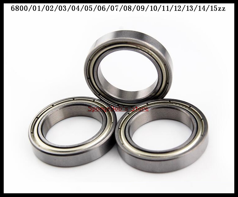 10pcs/Lot 6800ZZ 6800 ZZ 10x19x5mm Metal Shielded Thin Wall Deep Groove Ball Bearing 5pcs lot f6002zz f6002 zz 15x32x9mm metal shielded flange deep groove ball bearing