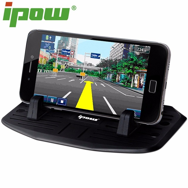 IPOW Silicone Phone Holder Dashboard Car Mount Stand For iPhone 7  7 Plus   6s 6plus 5 Samsung Smartphone GPS Phone Accessories b9d4ba0a7e7c