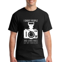 Hombre Camera I Shoot People And Sometimes Cut Off Their Head Geek Short Sleeve T Shirts