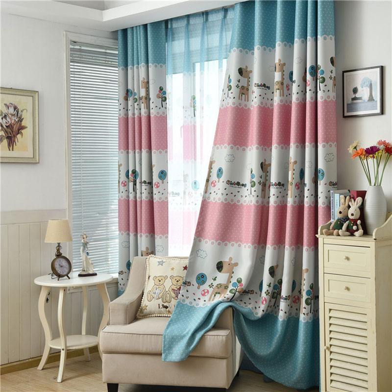 US $12.6 37% OFF|Cartoon Children Room Window Curtain Shading Cloth  Curtains for Living Dining Room Bedroom-in Curtains from Home & Garden on  ...