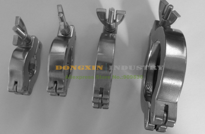 5pcs/lot Aluminum KF40 Clamps For Vacuum Pump And Other Vacuum Adapter