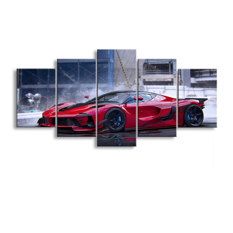 5 pieces high-definition print sports car canvas oil painting poster and wall art living room picture C5-9