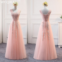 MSY03V#Pink Lace Up V neck Bridesmaid Dresses Long Middle Short Style Wedding Party Dress Prom Gown Wholesale women Clothing