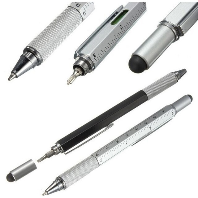 1pcs 7 color novel Multifunctional Screwdriver Ballpoint Pen Touch Screen Metal Gift Tool School office supplie stationery pen Banner Pens